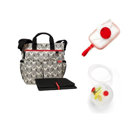 Paci Egg + Wipes Case Red + Bolsa Duo Signature Hearts SKIPHOP