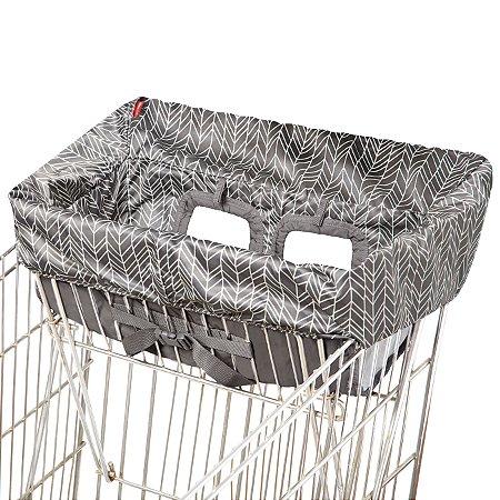 Protetor de Carrinho e Cadeirões Shopping Cart Cover Grey Feather Skiphop