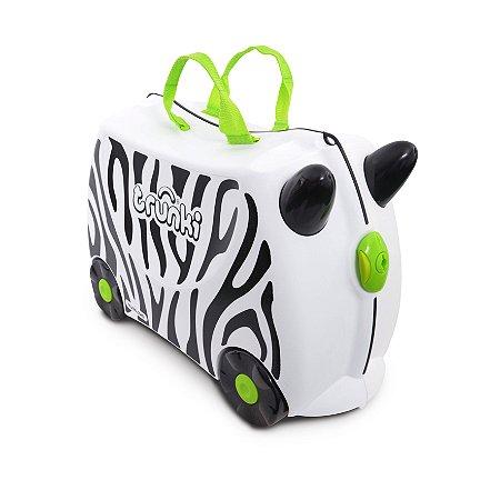 Mala Infantil Trunki - Zebra Zimba - Sua viagem muito mais divertida - cor Branca