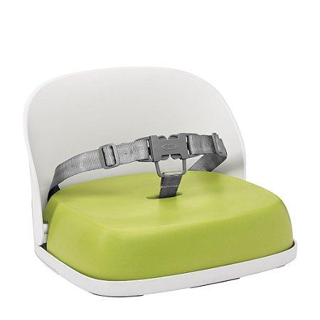 Assento Infantil OXOTot - Elevação com encosto e cinto - Cor Branco e Verde