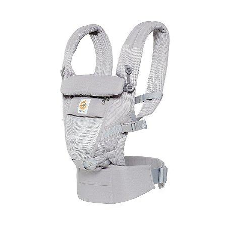 Canguru Ergobaby - Modelo Adapt  - Acompanha seu bebê desde o nascimento - Tecnologia Cool Air Mesh - Cor Pearl Grey