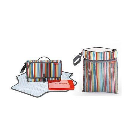 Combo Especial de aniversário - Wet/Dry Bag + Trocador - Metro Stripes