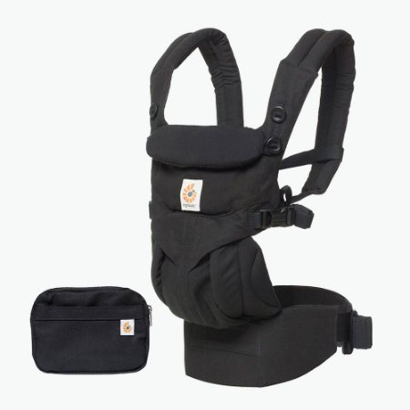 Canguru Ergobaby - Modelo Omni 360 - All-in-One - Cor Pure Black