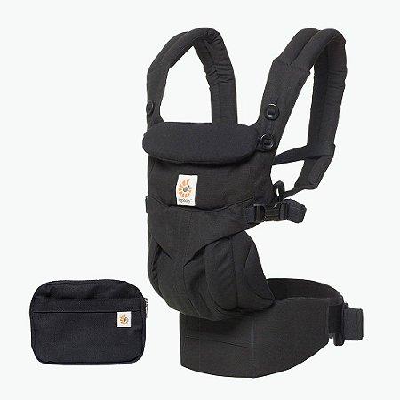 Canguru Ergobaby - OMNI 360 - ALL-IN-ONE Baby Carrier - Cor : Pure Black (Preto) ***Lançamento Mundial***