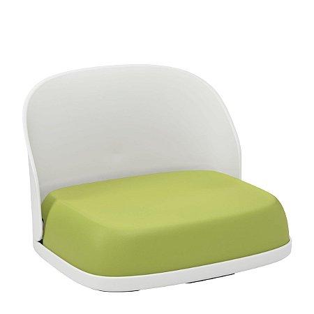 Assento Infantil OXOTot - Elevação com encosto - Cor Branco e Verde