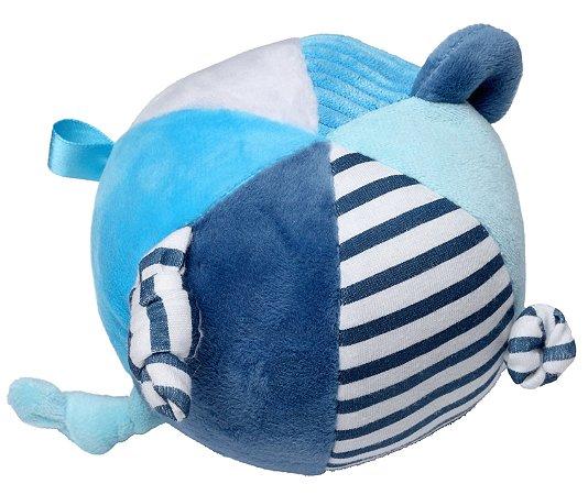Bola de Pelúcia com Chocalho Elefante Azul - Storki