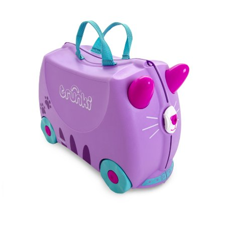 Mala Infantil Trunki - Gata Cassie - Sua viagem muito mais divertida - cor Lilas