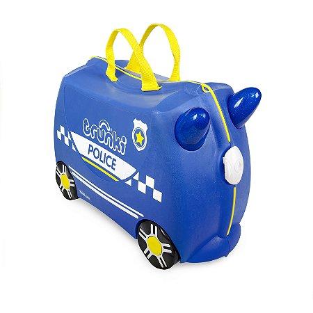 Mala Infantil Trunki - Carro de Policia - Sua viagem muito mais divertida - cor Azul