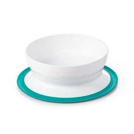Prato ( Bowl) com Suporte de sucção Oxotot - Verde Azulado