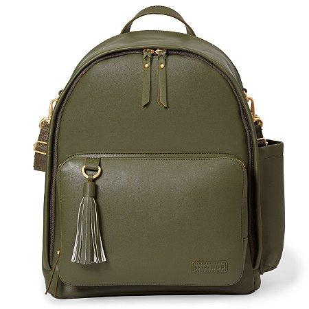 Bolsa Maternidade Skip Hop - Coleção Greenwich Simply Chic Backpack (Mochila) - Cor Olive