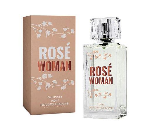 Deo Colônia Golden Dreams Cosmetics Rose Woman - 100 ml
