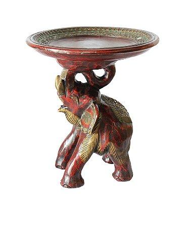 Elefante Madeira c/ Bandeja