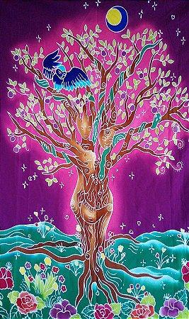 Panô Batik Árvore da Vida