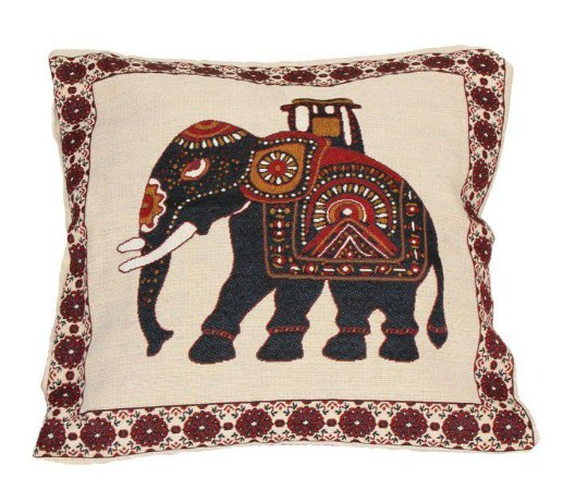 Capa Almofada Elefante Preto 45 x 45cm