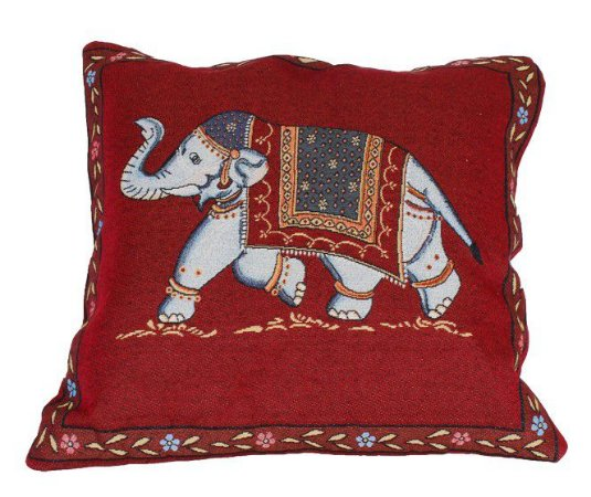 Capa Almofada Vermelha Elefante 45x45cm