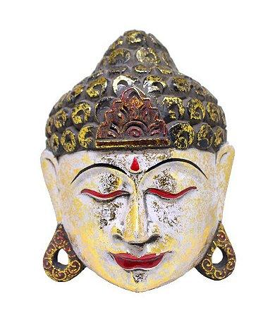 Máscara Parede Buda Branca