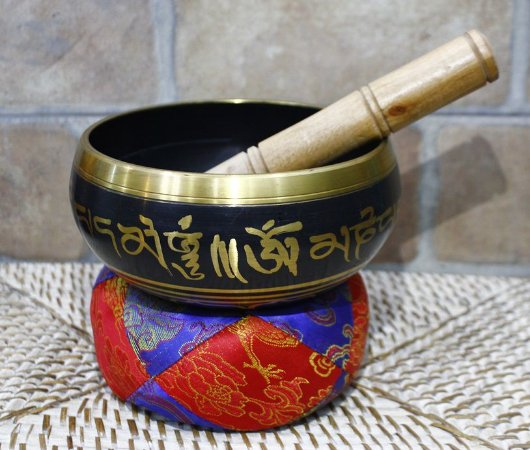 Singing Bowl Preto 15cm