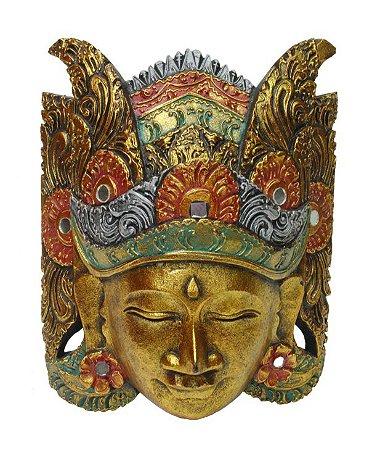 Máscara Parede Topeng Dourada