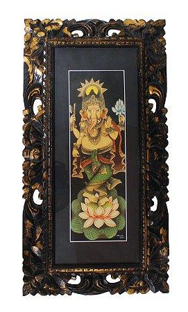 Ganesha Gravura c/ Moldura