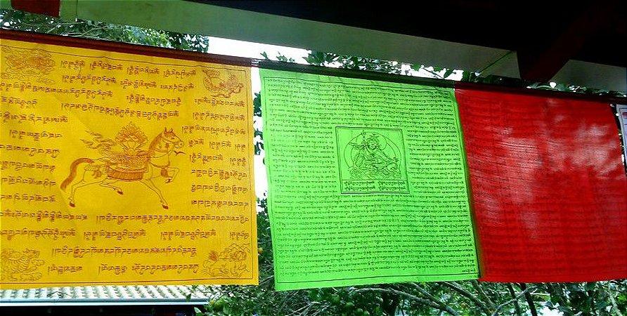 Bandeira de Oração Tibetana Cetim 6,5M