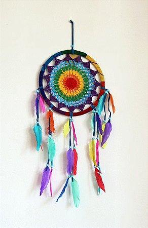Filtro dos Sonhos Crochê Color