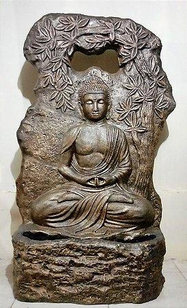 Fonte de Água Painel Buda Gold
