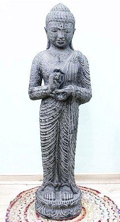 Buda em pé Cimento