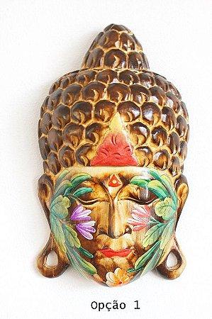 Máscara Buda com Flores PQ