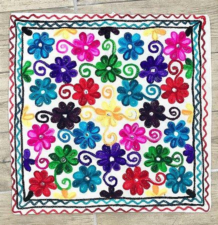 Capa Almofada Indiana Flores 2