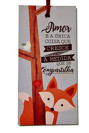 Placa Tag Raposa Amor