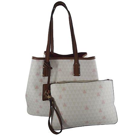 23121f31e Bolsa Bag Dreams Triangle Luany Branca - Bolsas Femininas - Bag ...