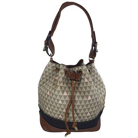 181646a34 Bolsa Bag Dreams Saco Triangle Cinza - Bolsas Femininas - Bag Dreams ...