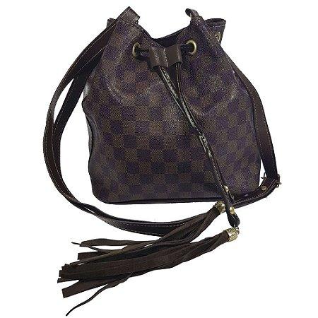 c1239bf91 Bolsa Bag Dreams Saco Quadriculada Marrom - Bolsas Femininas - Bag ...