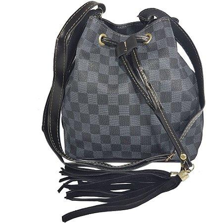 de30544b3 Bolsa Bag Dreams Saco Quadriculada Preta - Bolsas Femininas - Bag ...