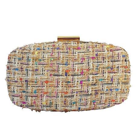 6deb38cc7 Bolsa Bag Dreams Clutch Tweed Dourada - Bolsas Femininas - Bag ...