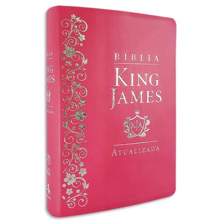 Bíblia King James Estudo Letra Grande Rosa