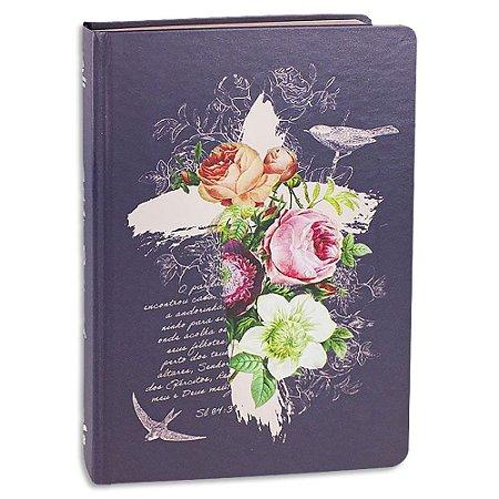 Bíblia Feminina NAA Letra Grande Rosas