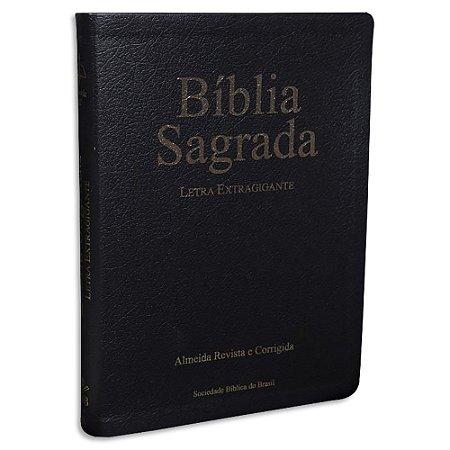 Bíblia Letra Extra Gigante Preta