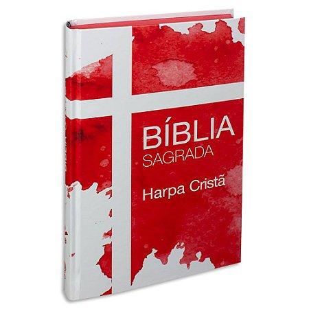 Bíblia com Harpa Capa Dura Vermelha