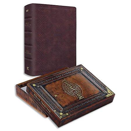 Bíblia Thompson Letra Grande Marrom do Colecionador