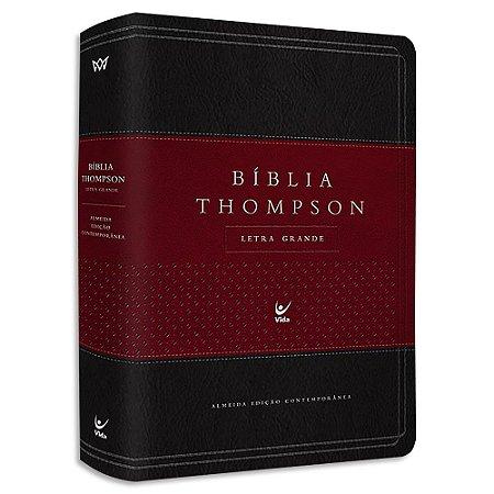 Bíblia Thompson Letra Grande com Índice Vinho