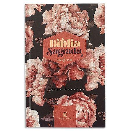 Bíblia Leitura Perfeita Letras Grandes ACF Peônias Rosadas