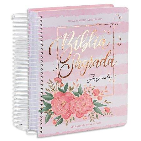 Bíblia Sagrada Jornada Aquarela Rosa