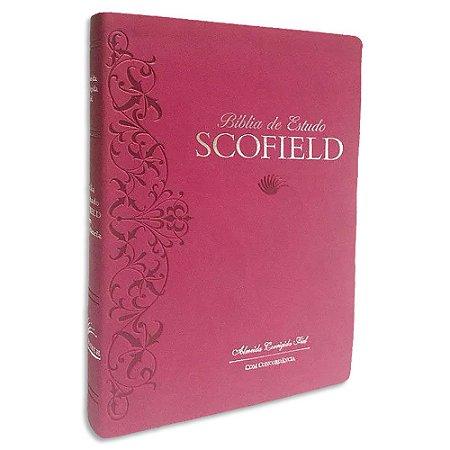 Bíblia de Estudo Scofield ACF Grande Rosa