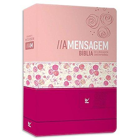 Bíblia A Mensagem Feminina capa Rosa Duotone