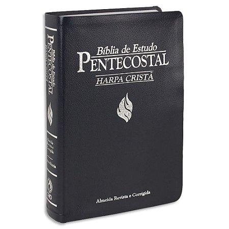 Bíblia de Estudo Pentecostal com Harpa Azul