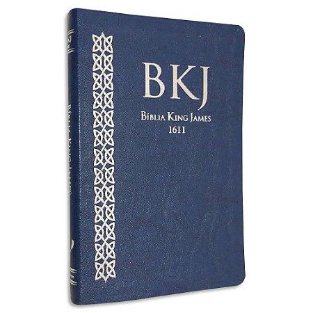 Bíblia King James 1611 Ultrafina capa Azul