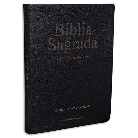 Bíblia Sagrada Letra Extra Gigante Almeida Revista e Corrigida