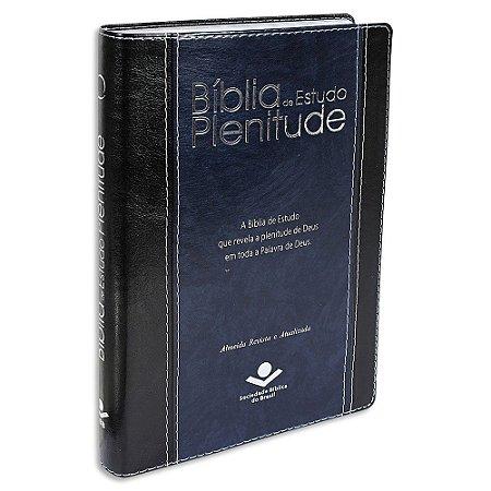 Bíblia de Estudo Plenitude RA capa Azul e Preta