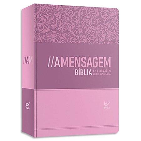 Bíblia A Mensagem capa Rosa
